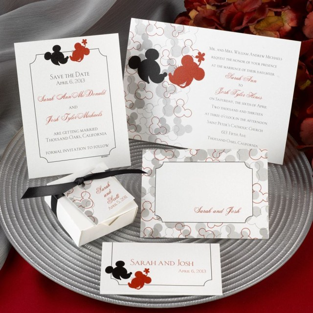 Disney Wedding Invitations Disney Oh Boy Invitation Mickey Mouse