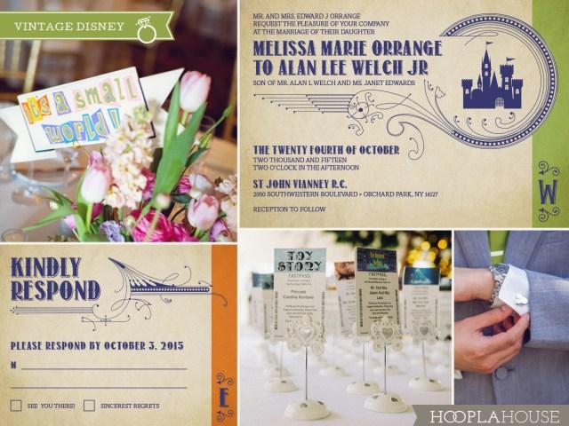 Disney Wedding Invitations Vintage Disney Wedding Invitations Hoopla House
