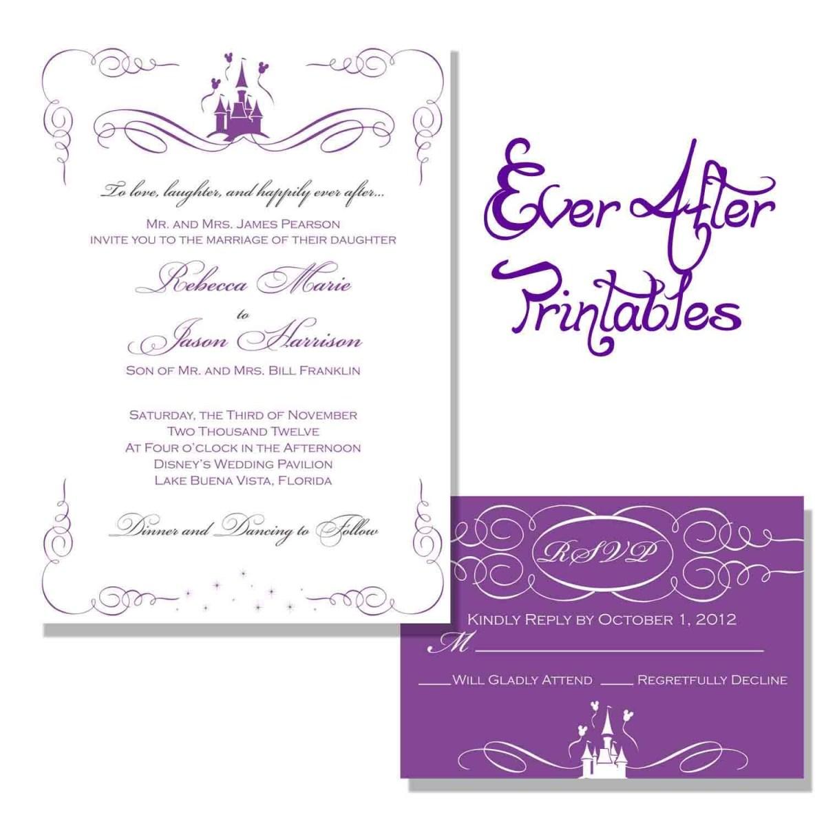 Disney Wedding Invitations Wedding Invitation Wording Wording Getting Hitched Disney
