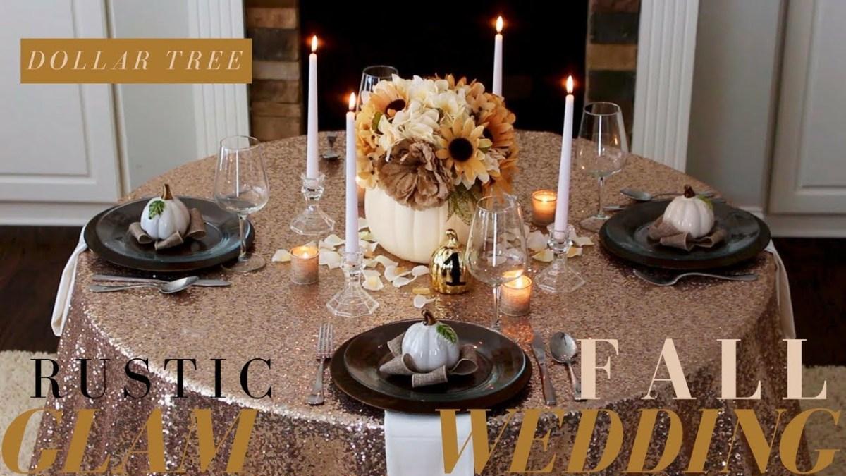 Diy Fall Wedding Ideas Diy Fall Wedding Decoration Ideas Rustic Wedding Decor Dollar