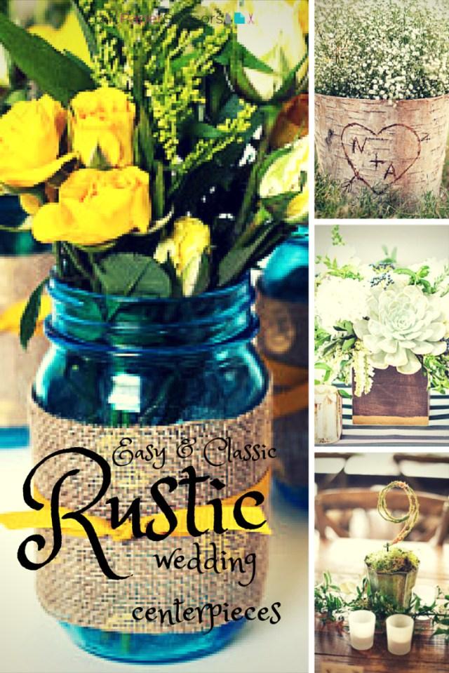 Diy Rustic Wedding Wedding Trend Rustic Summer Wedding Centerpieces Craft Paper Scissors