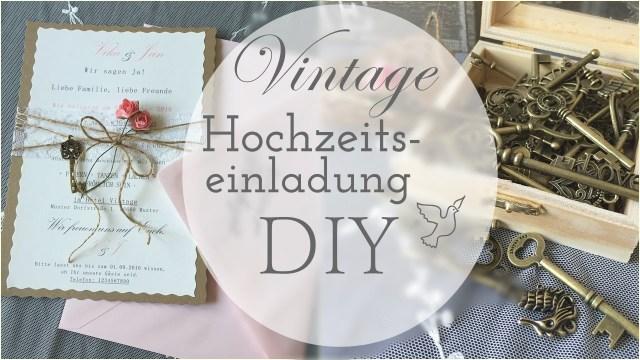 Diy Vintage Wedding Vintage Hochzeitseinladung Diy Wedding Vikabella Youtube