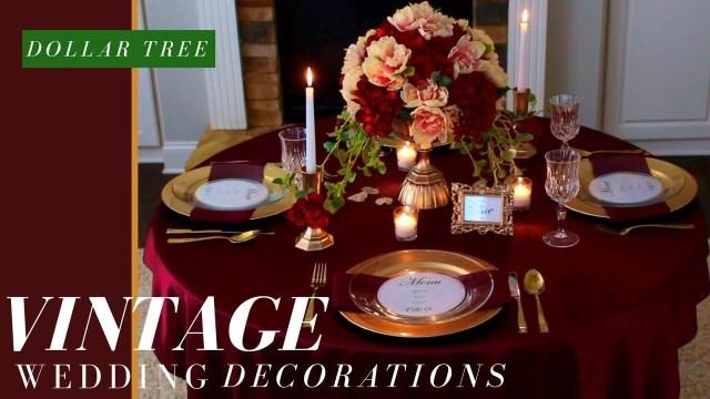 Diy Vintage Wedding Vintage Wedding Ideas Fall Wedding Decorations Ideas Dollar Tree