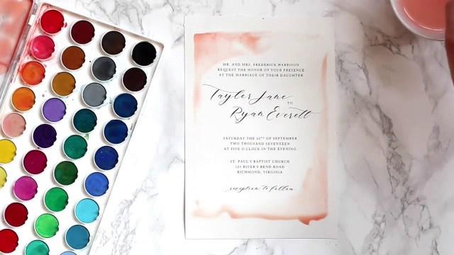 Diy Watercolor Wedding Invitations Diy Watercolor Wedding Invitations Youtube