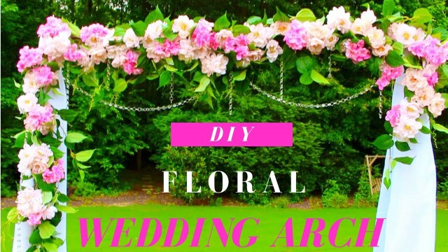 Diy Wedding Alter Diy Wedding Arch Tutorial Diy Floral Crystals Wedding Arch
