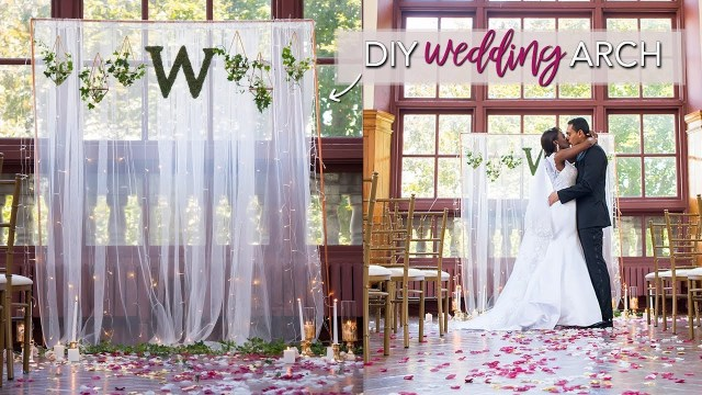 Diy Wedding Alter Diy Wedding Ceremony Backdrop Easy No Tools Required Youtube