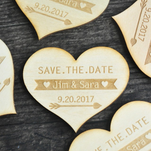 Diy Wedding Announcements Save The Date Heart Rustic Wedding Announcement Save The Date