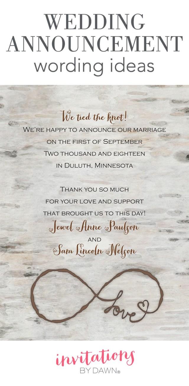 Diy Wedding Announcements Wedding Announcement Wording Invitations Dawn