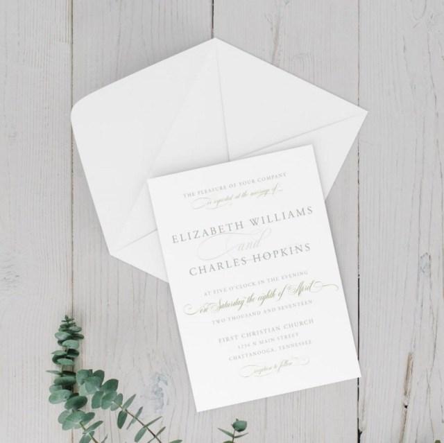 Diy Wedding Announcements Wedding Invitation Wedding Announcement Diy Printable Elegant
