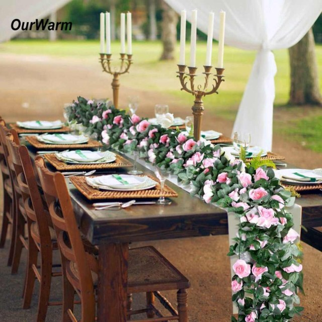 Diy Wedding Backdrop Detail Feedback Questions About Ourwarm Artificial Fake Flowers