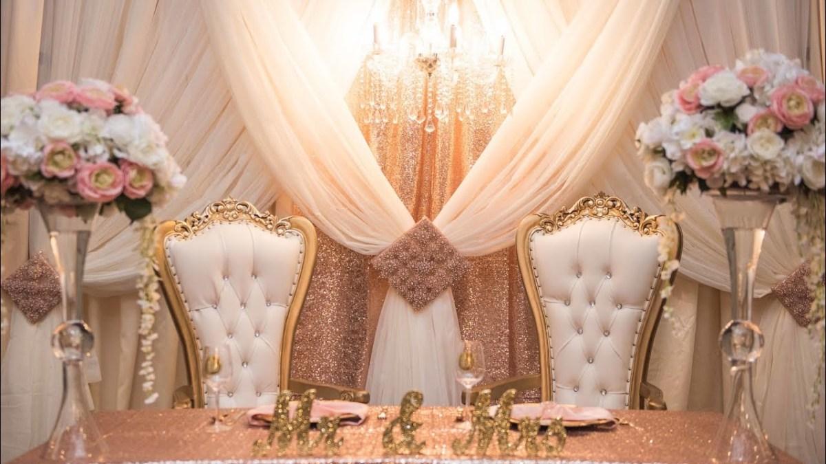 Diy Wedding Backdrop Glam Diy Wedding Or Party Backdrop Youtube