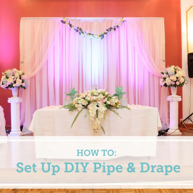 Diy Wedding Backdrop How To Set Up A Diy Wedding Backdrop