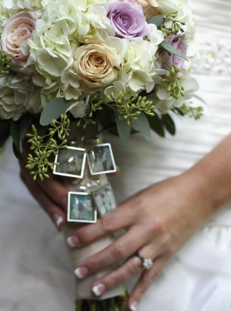 Diy Wedding Bouquet Diy Wedding Bouquet Memory Charm Kit Photo Pendants Charms For Family Photo Everything You Need Need Wedding Shower Gift