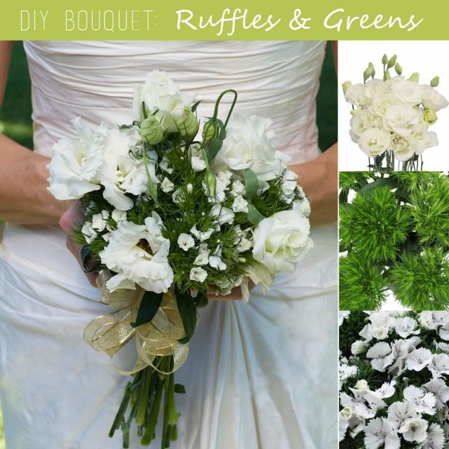 Diy Wedding Bouquet Diy Wedding Bouquet Ruffles And Greens Fiftyflowers
