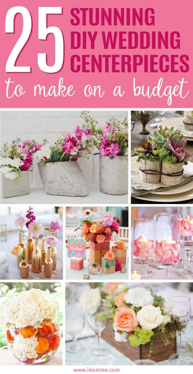 Diy Wedding Centerpiece 25 Stunning Diy Wedding Centerpieces To Make On A Budget Ideal Me