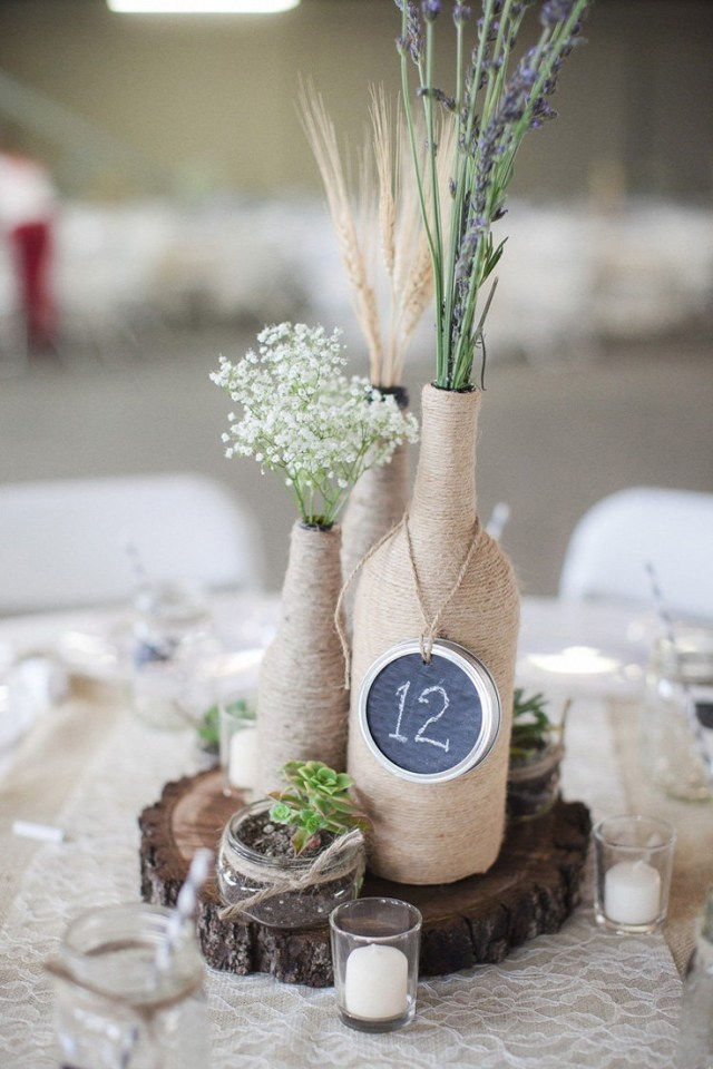 Diy Wedding Centerpiece 7 Wine Bottle Centerpieces To Diy For Your Wedding Wedpics Blog