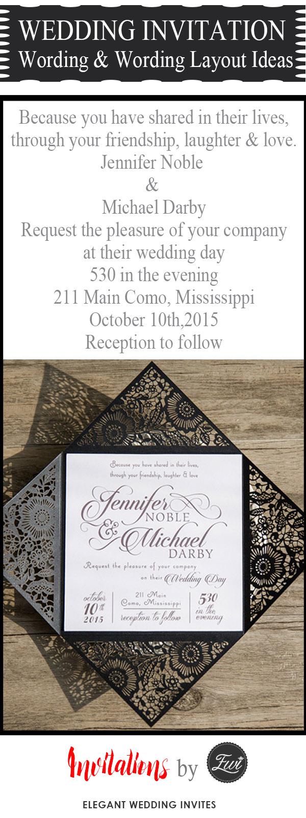 Diy Wedding Invitations Templates 20 Popular Wedding Invitation Wording Diy Templates Ideas