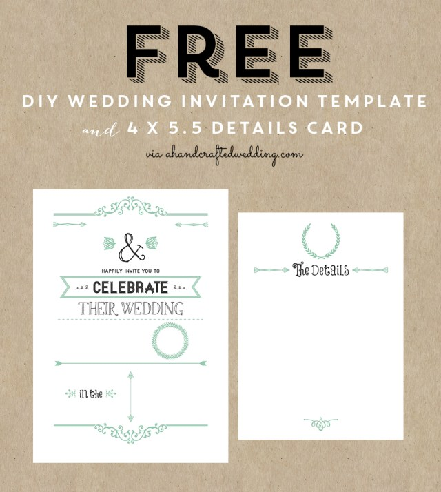 Diy Wedding Invitations Templates Free Printable Wedding Invitation Template All Things Wedding