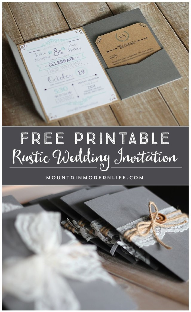 Diy Wedding Invitations Templates Free Printable Wedding Invitation Template Mountainmodernlife