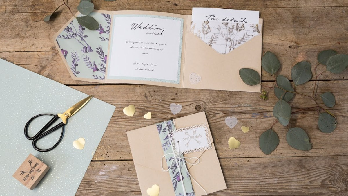 Diy Wedding Invites Diy Homemade Wedding Invitations Sstrene Grene Youtube