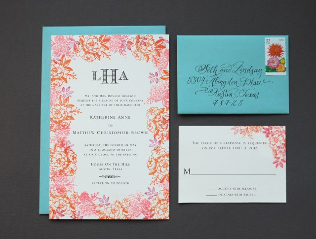 Diy Wedding Invites Diy Rubber Stamp Floral Wedding Invitations