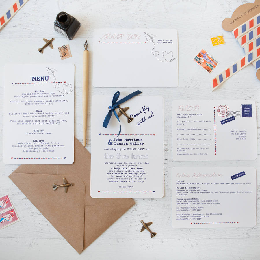 Diy Wedding Invites Fly With Us Diy Wedding Invitation Pack Wedding In A Teacup