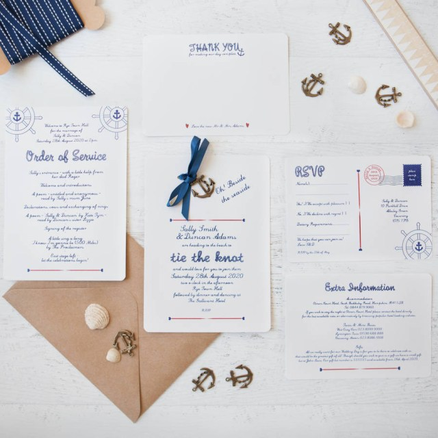 Diy Wedding Invites Nautical Diy Wedding Invitation Pack Wedding In A Teacup
