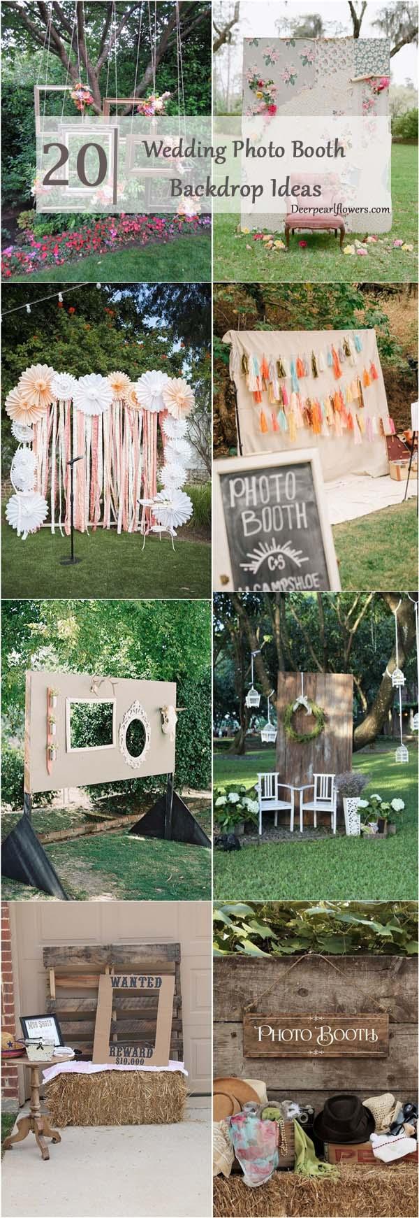 Diy Wedding Photobooth 20 Brilliant Wedding Photo Booth Ideas Deer Pearl Flowers