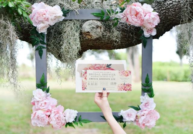 Diy Wedding Photobooth Diy Bridal Shower Floral Photo Booth Frame Beacon Lane
