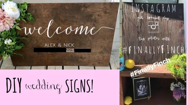 Diy Wedding Signs Diy Wedding Signs Easy Wooden Signs Alex Lynn Ward Youtube