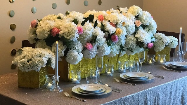 Diy Wedding Tables Diy Wedding Table Decor Diy Bling Decor Diy Floral Decor Diy Long