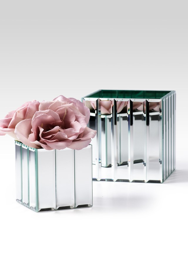 Diy Wedding Vases Mirror Strips Cube Glass Vase Wedding Event Centerpiece Containers Diy