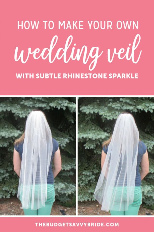 Diy Wedding Veil Diy Rhinestone Veil