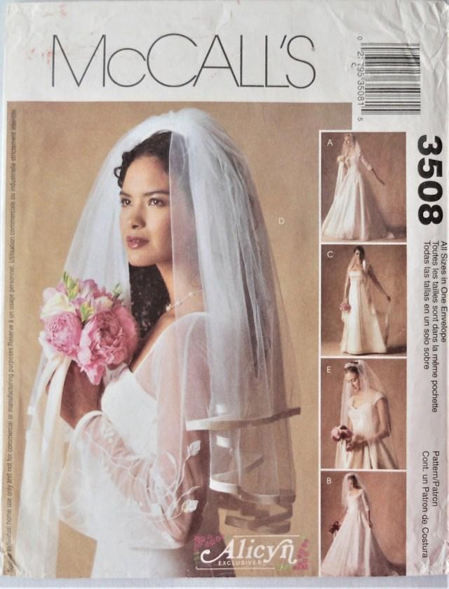 Diy Wedding Veil Mccalls 3508 Wedding Veils Pattern Bridal Veil Etsy