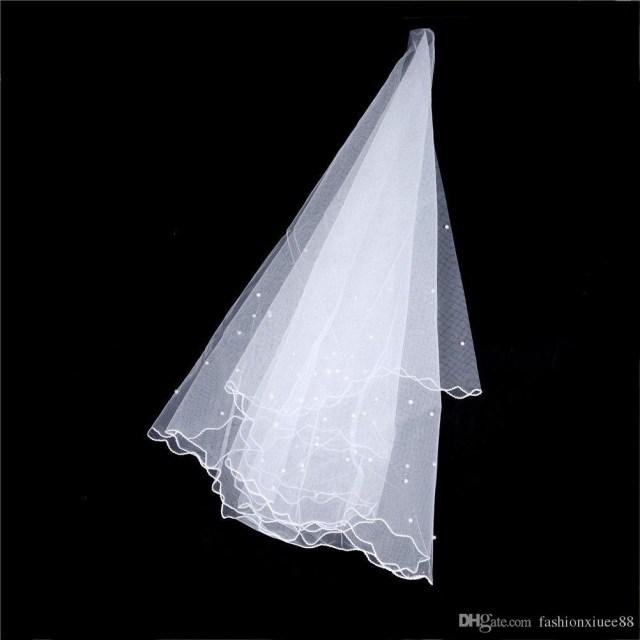 Diy Wedding Veil Pearl Beads Bridal Veil Wedding Accessories One Layer 15 M Length