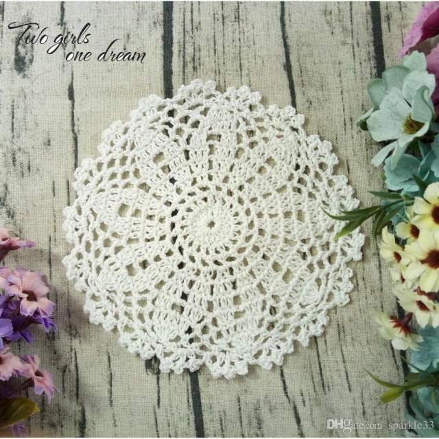 Doilie Wedding Decor 2019 Original Vintage Diy 16cm Flowers Coaster Handmade Crochet