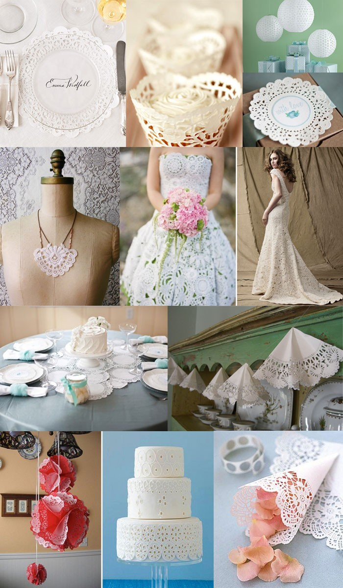 Doilie Wedding Decor Paper Doily Wedding Decorations Doilywedding In Paper Doily Wedding