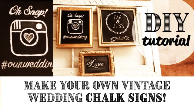Dream Wedding Ideas Diy Easy Vintage Chalk Frame Dream Wedding Ideas Wedding Decor