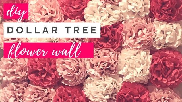 Dyi Wedding Ideas Diy Dollar Tree Tissue Paper Flower Wall Diy Wedding Ideas Party Decor