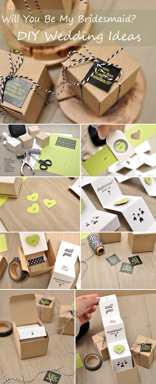 Dyi Wedding Ideas Diy Wedding Gift Ideas Will You Be My Bridesmaid