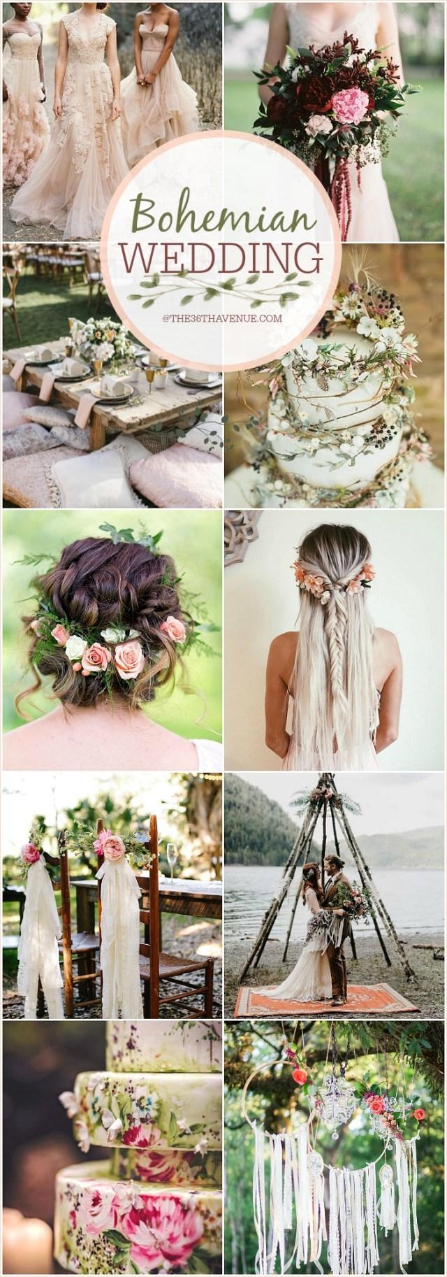 Easy Diy Wedding Decorations Bohemian Wedding Ideas Diy Boho Chic Wedding The 36th Avenue