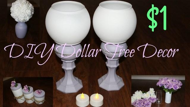 Easy Diy Wedding Decorations Easy Dollar Tree Diy Wedding Or Home Decor Dollar Store Youtube