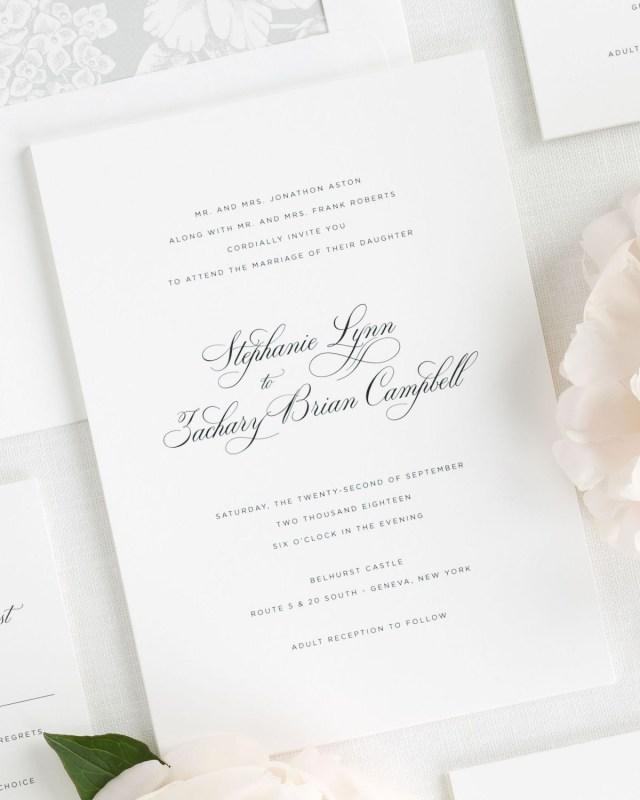 Elegant Wedding Invitation Delicate Elegance Wedding Invitations Wedding Invitations Shine