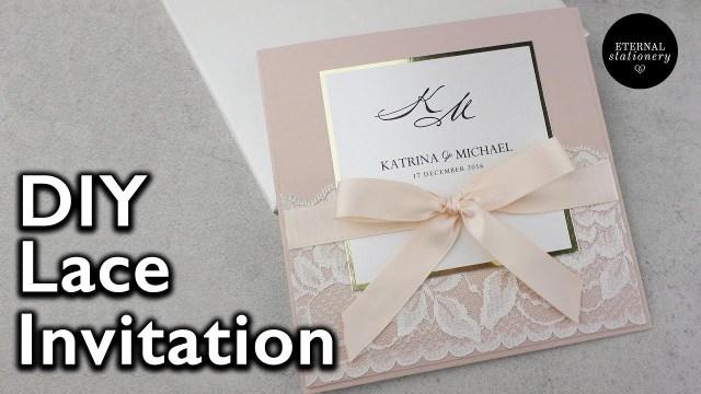 Elegant Wedding Invitation Elegant Lace Invitation Diy Wedding Invitations Eternal