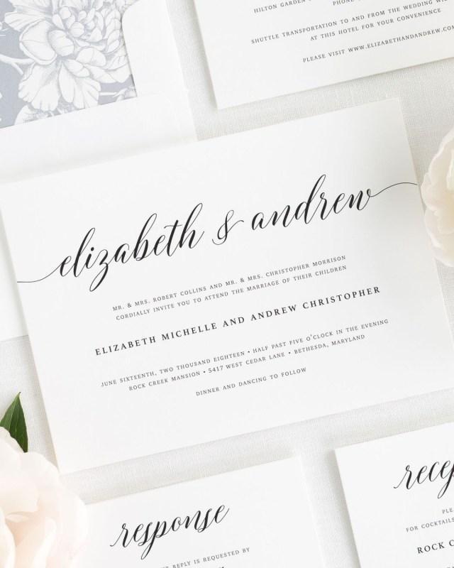 Elegant Wedding Invitation Elegant Romance Wedding Invitations Wedding Invitations Shine