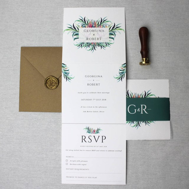 Elegant Wedding Invitation Floral Elegant Wedding Invitation Suite Beija Flor Studio