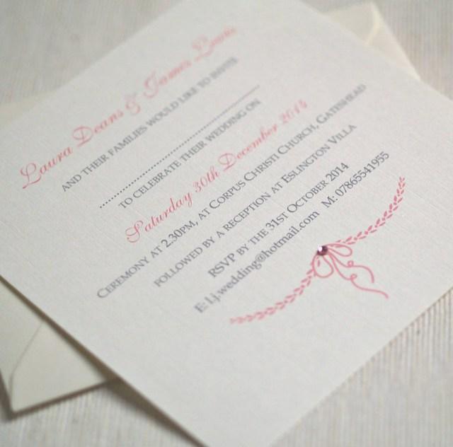 Elegant Wedding Invitation Personalised Elegant Wedding Invitations Beautiful Day