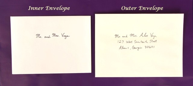 Envelopes For Wedding Invitations How To Address Wedding Invitations