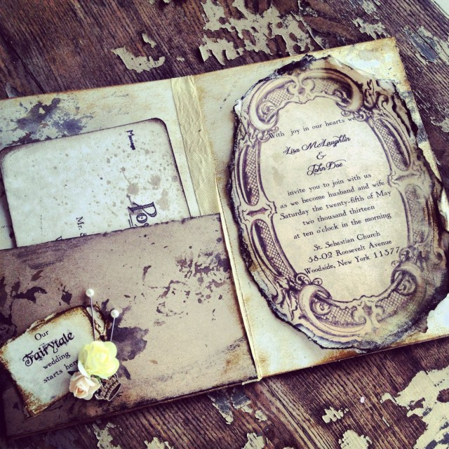 Fairytale Wedding Invitations Pocketfold Invitations Fairytale Wedding Invitation Shabscrap