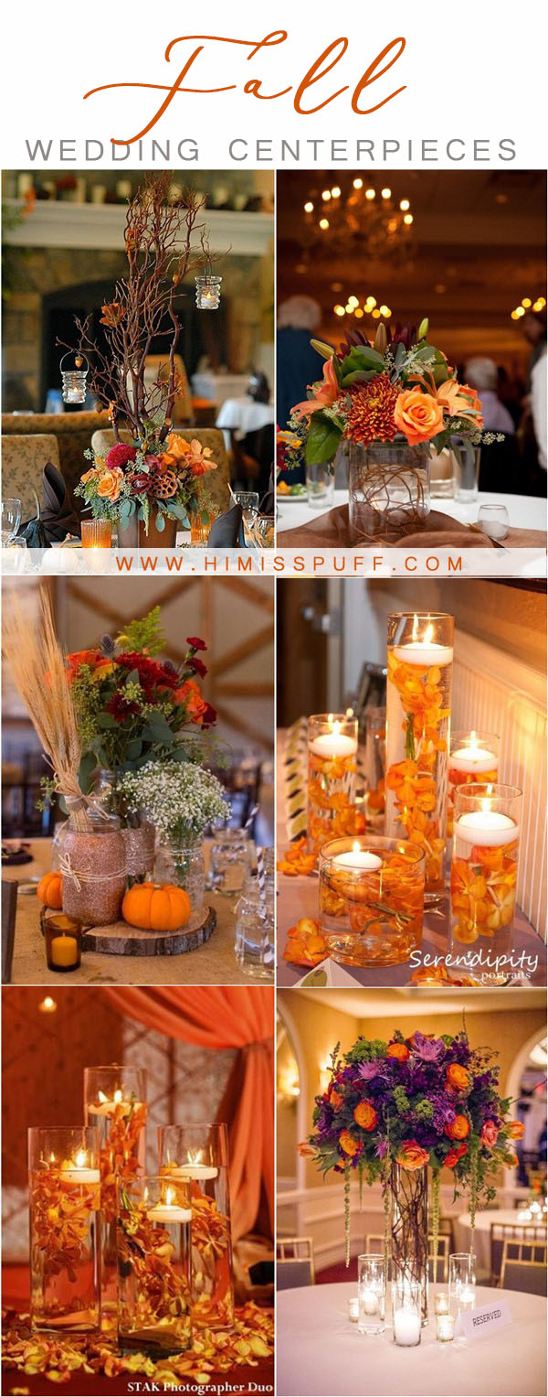 Fall Wedding Decoration Ideas 20 Fall Wedding Centerpieces To Inspire Your Big Day Hi Miss Puff